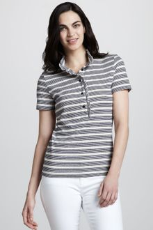 Tory Burch Lidia Striped Polo - Lyst