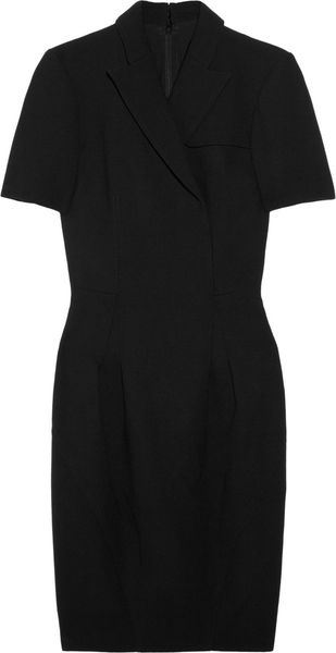 Zac Posen Woolcrepe Wrapeffect Dress - Lyst