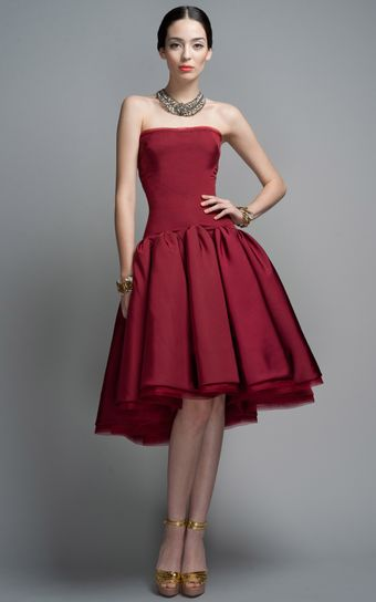 Zac Posen Peony Party Dress - Lyst