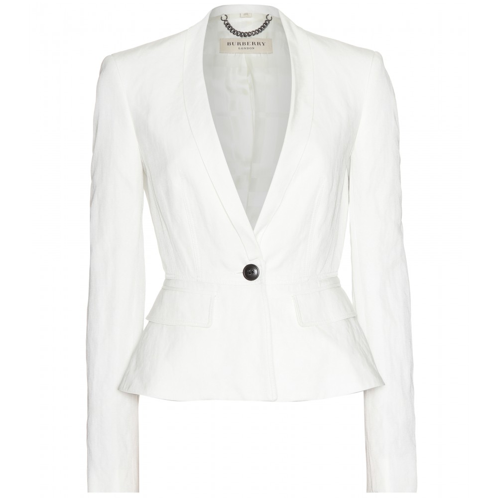 Burberry Kingsley Tailored Blazer in White | Lyst