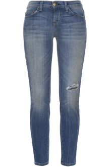 Current/Elliott The Stiletto Faded Midrise Ripped Skinny Jeans - Lyst