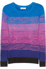 Matthew Williamson Ombré Knitted Cotton Sweater - Lyst