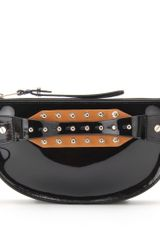 McQ by Alexander McQueen Studded Patent Leather Clutch