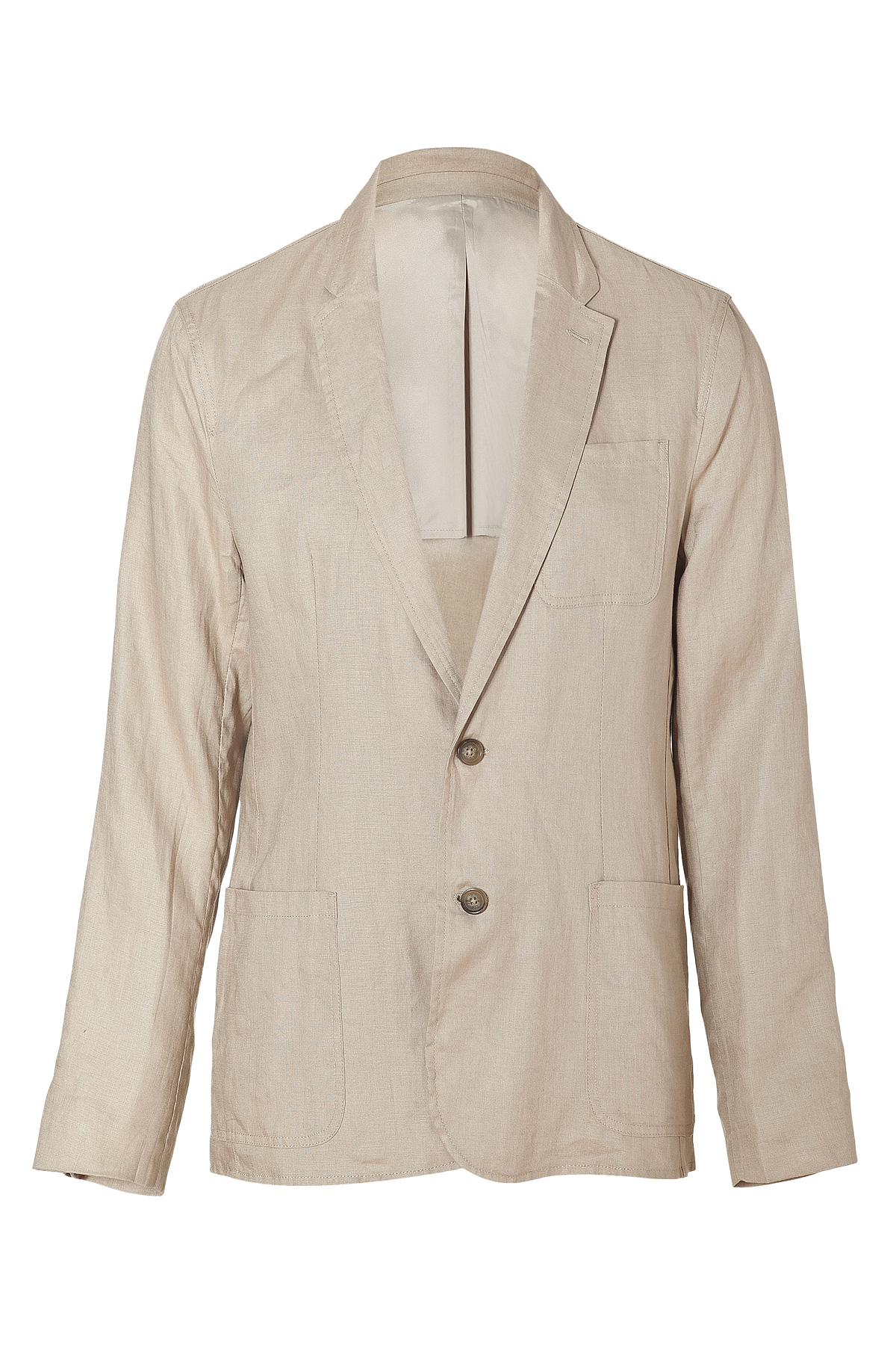michael kors khaki two button linen blazer in khaki for men lyst. Black Bedroom Furniture Sets. Home Design Ideas