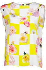 MSGM Sleeveless Blouse - Lyst