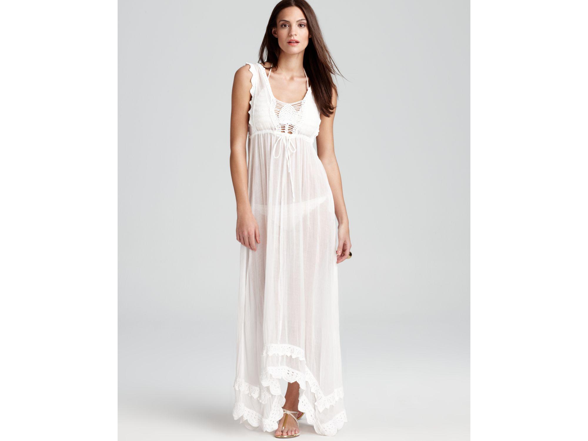 White Cotton Tank Maxi Dress