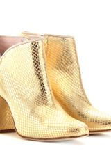 Opening Ceremony Penny Leather Ankle Boots - Lyst