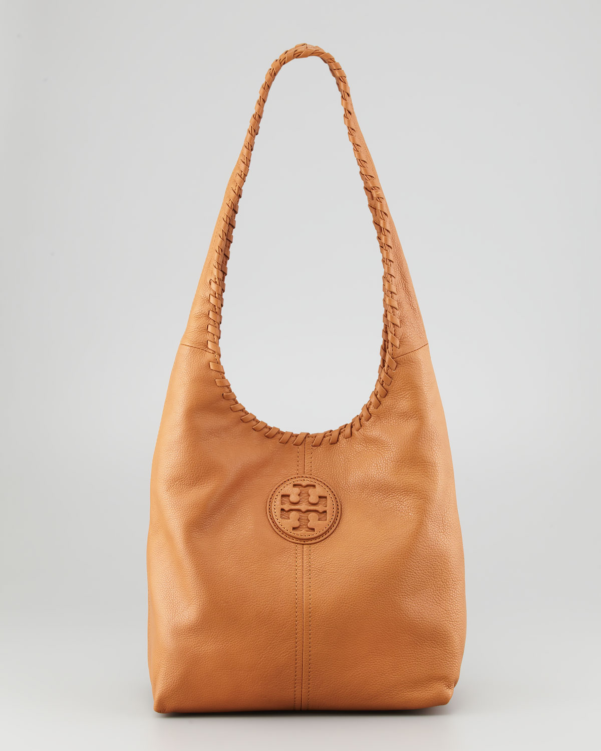 Tory burch Leather Hobo Bag in Brown | Lyst