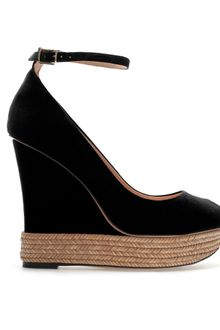 Zara Covered Wedge Peep Toe - Lyst
