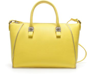 Zara Mini Bowling Bag with Zips - Lyst