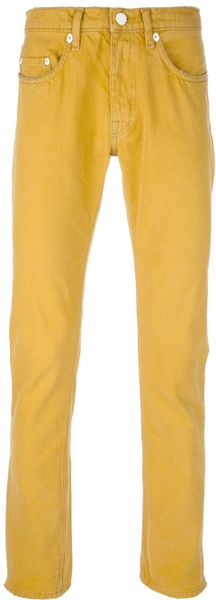Acne Vega Slim Fit Jean in Yellow for Men - Lyst