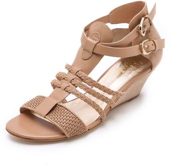 Belle By Sigerson Morrison Alma Low Wedge Sandals - Lyst