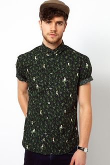 Paul Smith Shirt with Parrot Print - Lyst