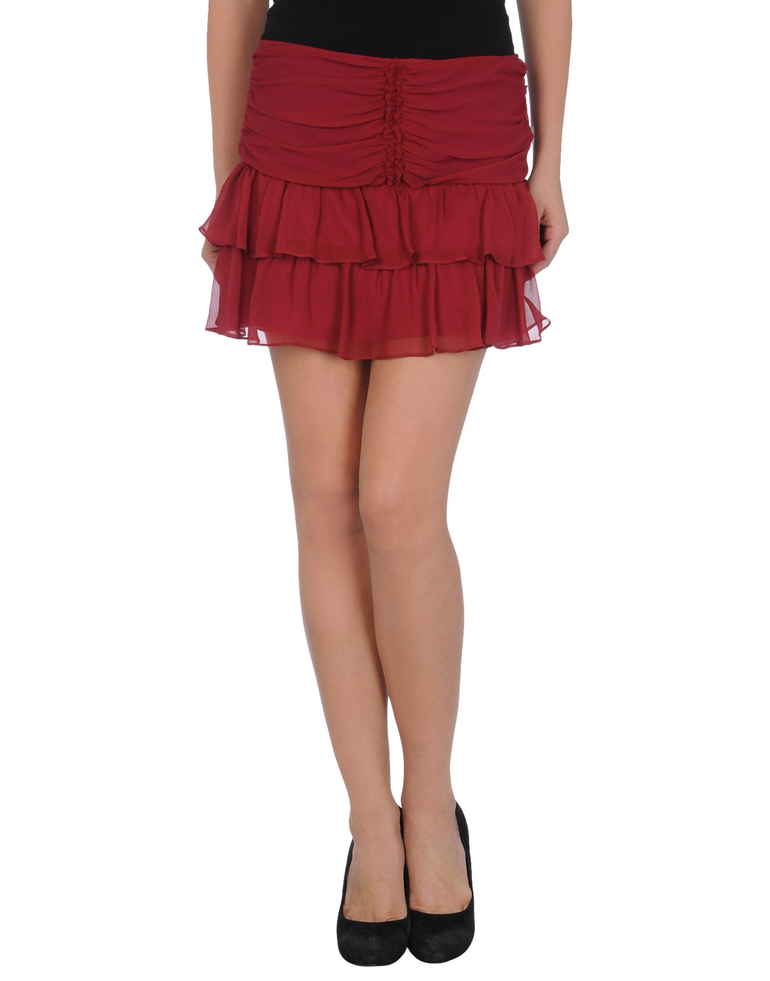 pinko mini skirt in purple maroon lyst