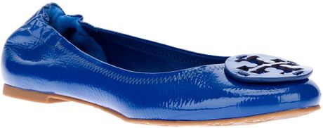 Tory Burch Embellished Ballerina in Blue - Lyst
