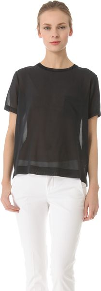 Vince Sheer Pocket Tee - Lyst