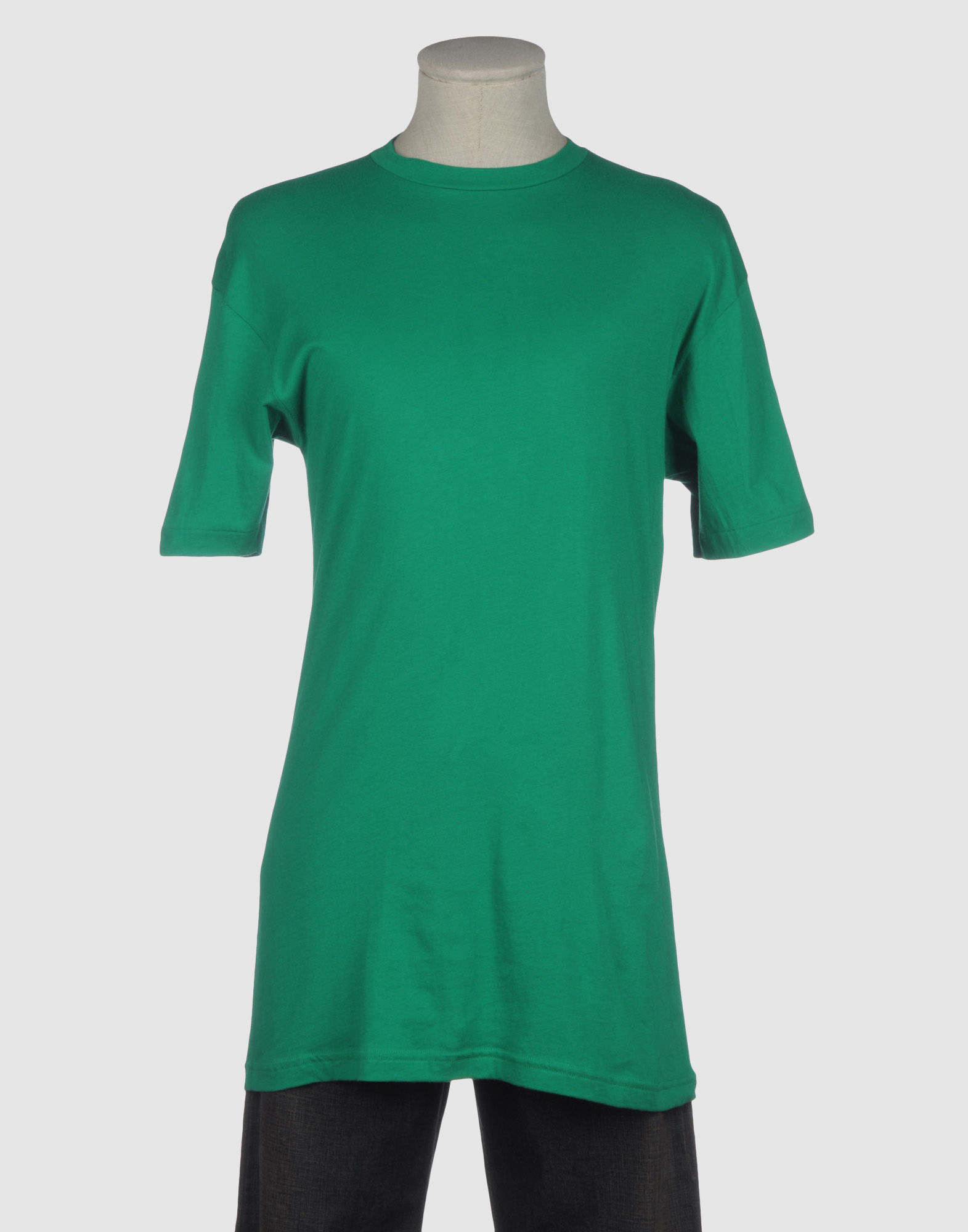 American apparel short sleeve t shirt in green for men lyst for American apparel custom t shirts