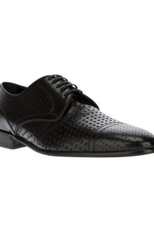Dolce & Gabbana Perforated Laceup Shoe - Lyst