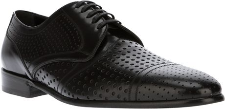 Dolce & Gabbana Perforated Laceup Shoe in Black for Men - Lyst