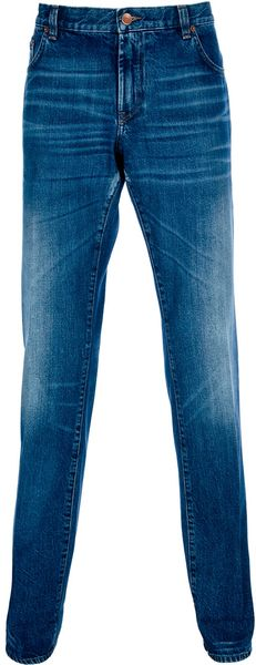 Dolce & Gabbana Straight Leg Jean in Blue for Men
