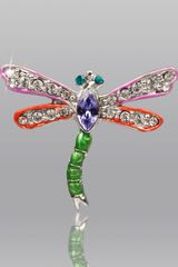 Jay Strongwater Fuchsia Red Dragonfly Pin - Lyst