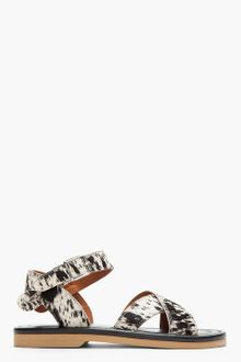 Marni Spotted Calf Hair Sandals - Lyst