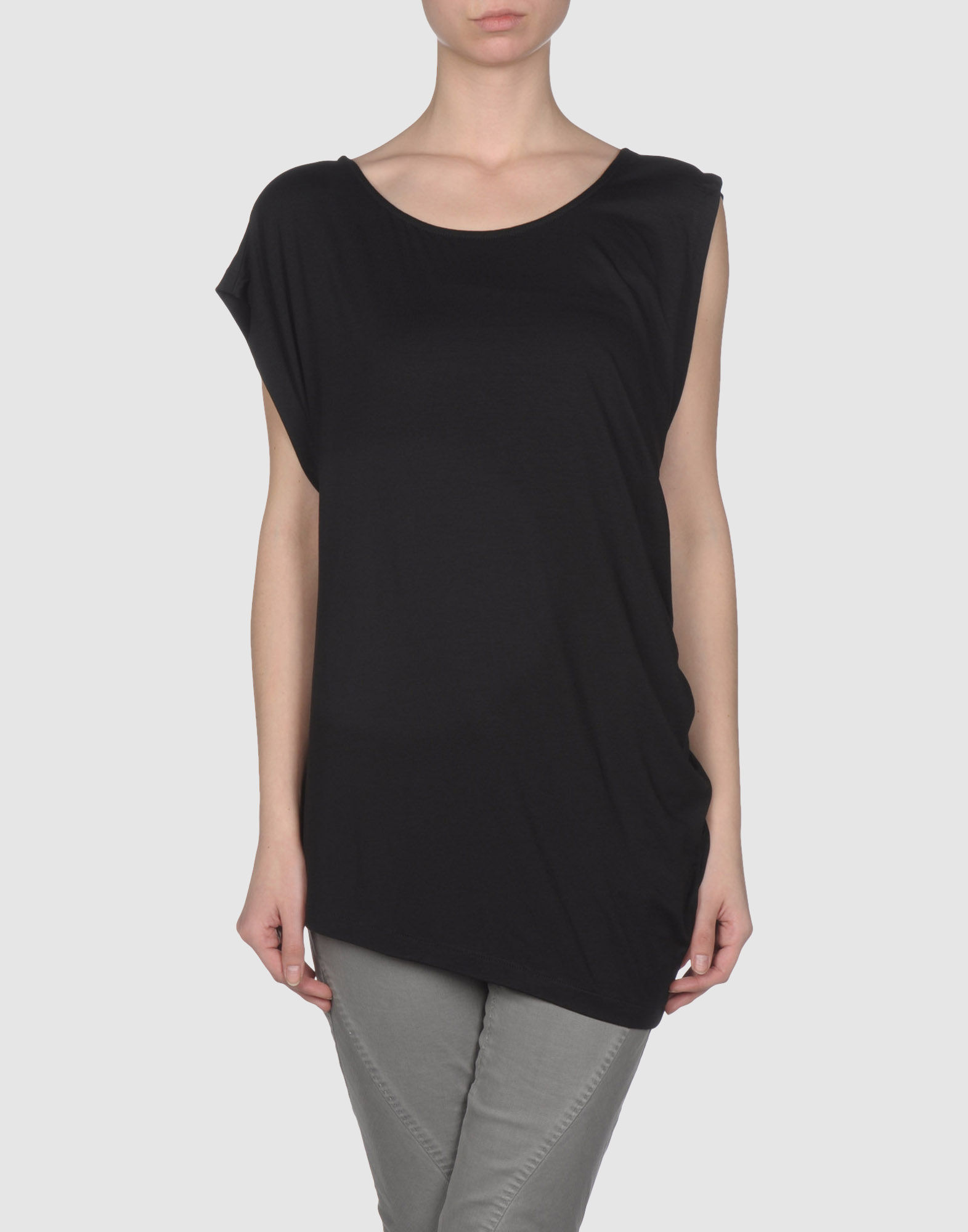 Lyst Paolo Errico Sleeveless T Shirt In Black