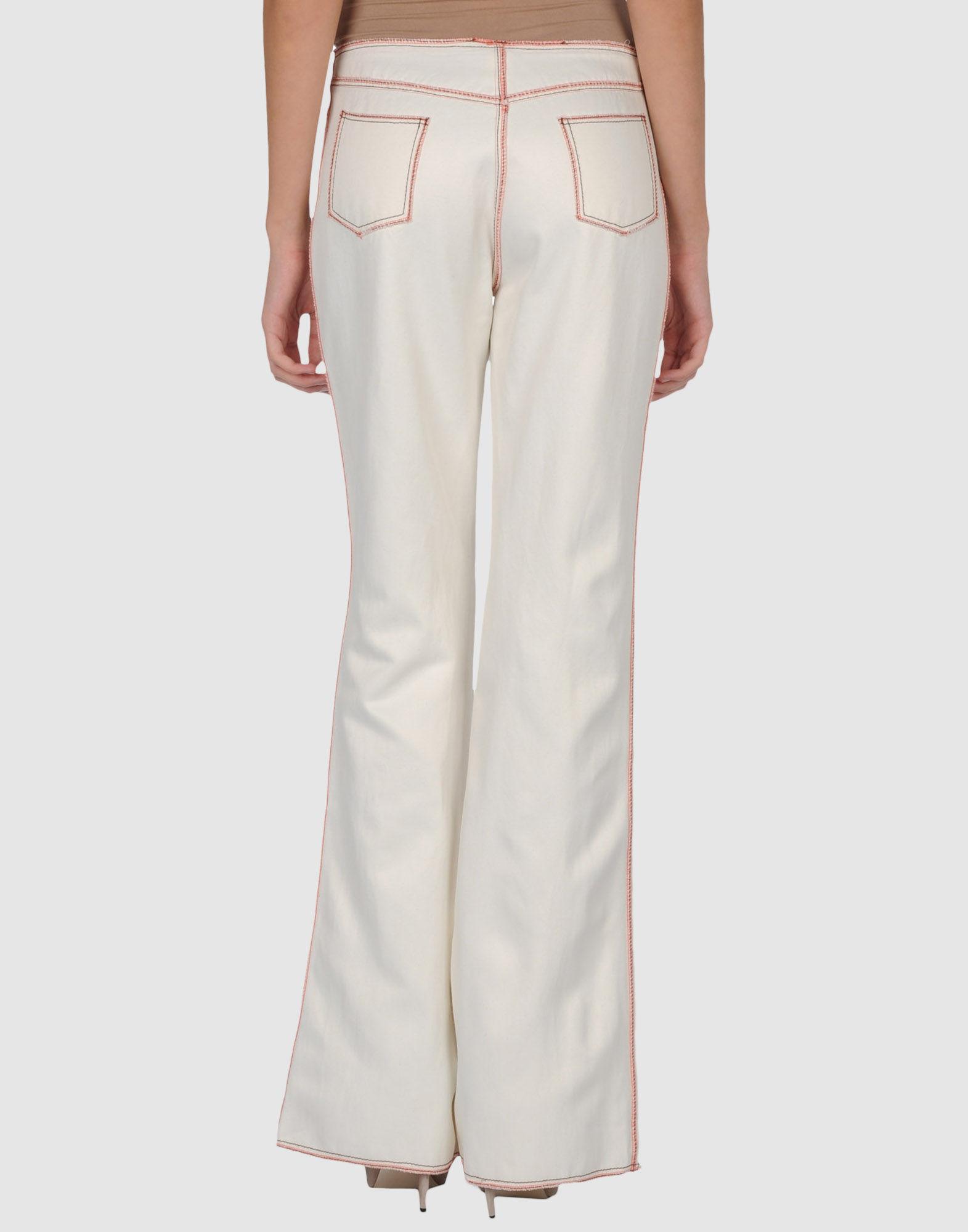 Venera Arapu Casual Pants In White