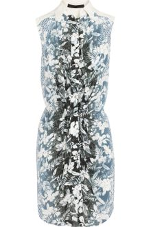 Alexander Wang Printed Silk Shirt Dress - Lyst