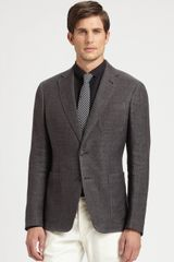 Armani Two Button Blazer - Lyst
