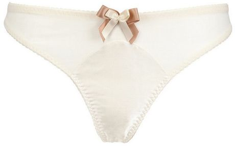 Bordelle Techno Mesh Thong in White (off white) - Lyst