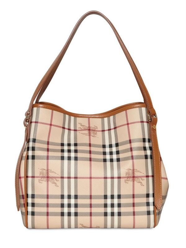 a4833c54e6d Lyst - Burberry Small Canterbury Haymarket PVC Bag in Natural