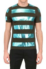 Burberry Prorsum Laminated Cotton Jersey T-Shirt - Lyst