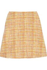 Carven Bouclé Tweed Mini Skirt - Lyst