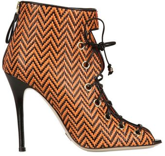 Daniele Michetti 110mm Carina Woven Leather Boots - Lyst