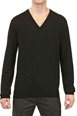 Dior Homme Bee Embroidered Wool V Neck Sweater - Lyst