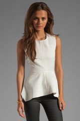 Elizabeth And James Peplum Top - Lyst