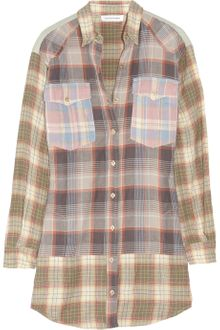 Etoile Isabel Marant Meg Plaid Cottonblend Shirt Dress - Lyst