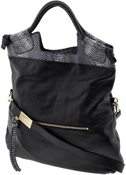 Foley + Corinna Mid City Tote in Black (polka snake)