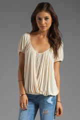 Free People Anns Ruched Top in Tea - Lyst