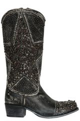 Frye 40mm Washed Star Studded Leather Boots