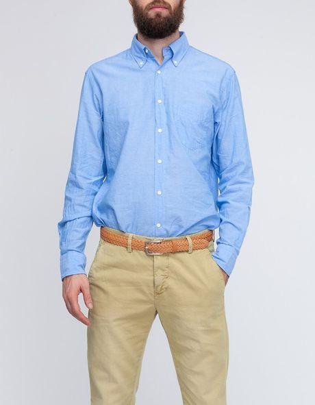 Gant Rugger Selvage Madras in Blue for Men (capri blue)