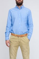 Gant Rugger Selvage Madras in Blue for Men (capri blue) - Lyst