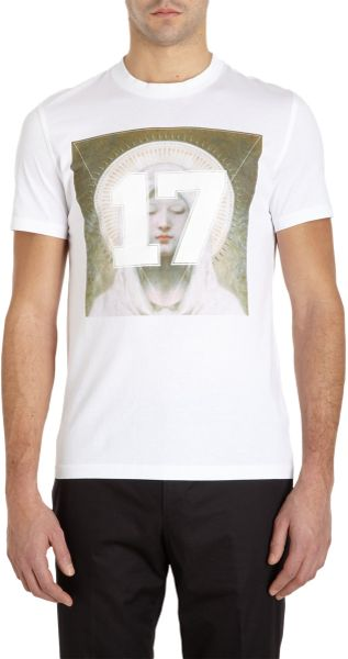 Givenchy 17 Virgin Mary Graphic Tee in White for Men