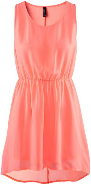 H&m Dress in Orange - Lyst