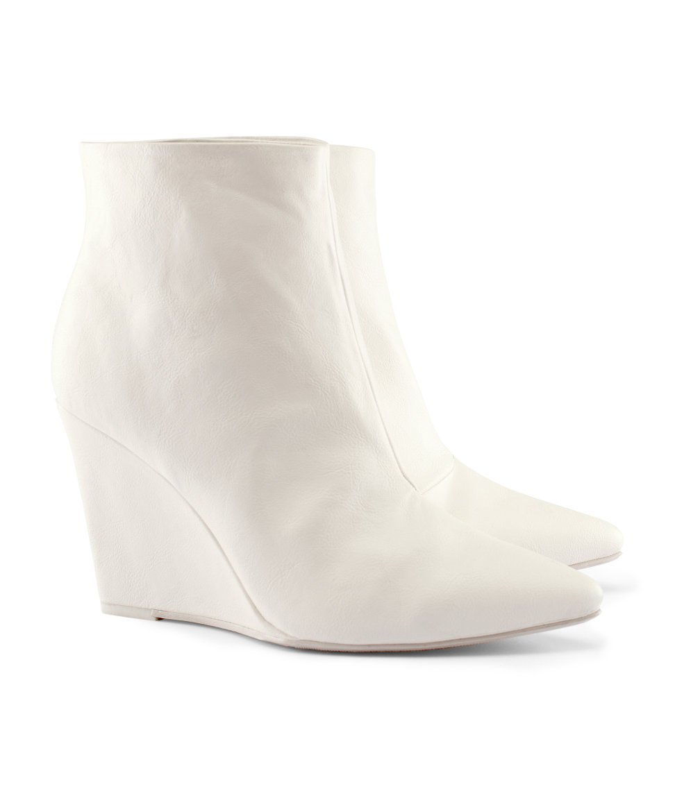White Ankle Boots Cr Boot