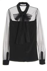Jason Wu Sheer Bow Blouse