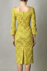 L'wren Scott Chartreuse Lace Dress in Yellow (chartreuse) - Lyst