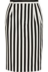 Marc Jacobs Striped Twill Skirt - Lyst