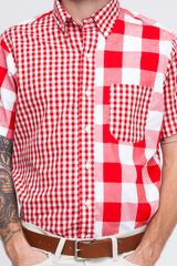 Mark Mcnairy Short Sleeve Gingham Fun Shirt in White for Men (red) - Lyst